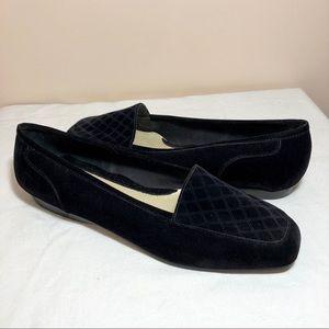 Shoes - Black velvet flats size 9.5